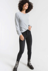 z supply the soft spun ruched long sleeve top final sale