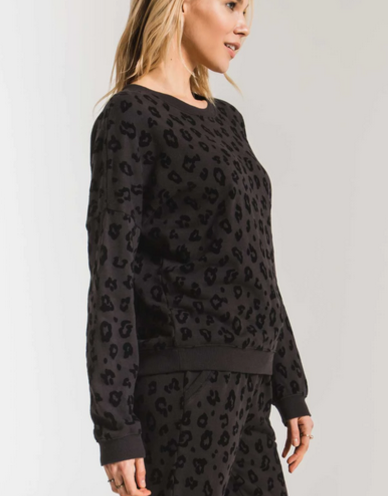 z supply the animal flocked pullover