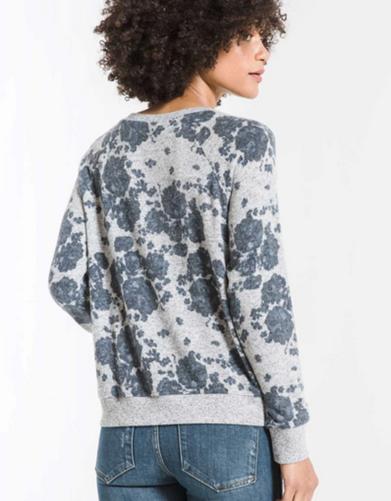 z supply the marled floral pullover