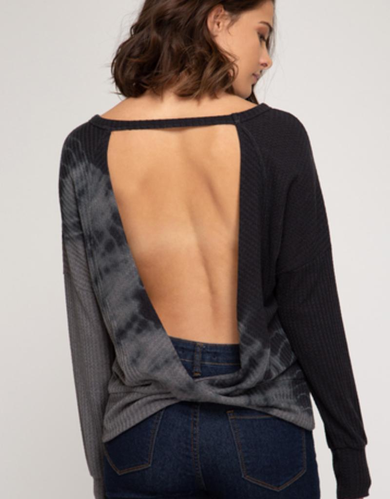 thermal dye knit top