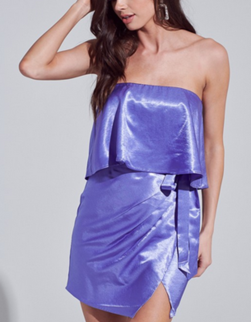 satin wrap dress FINAL SALE