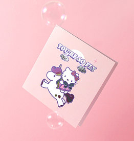 so fly hello kitty card