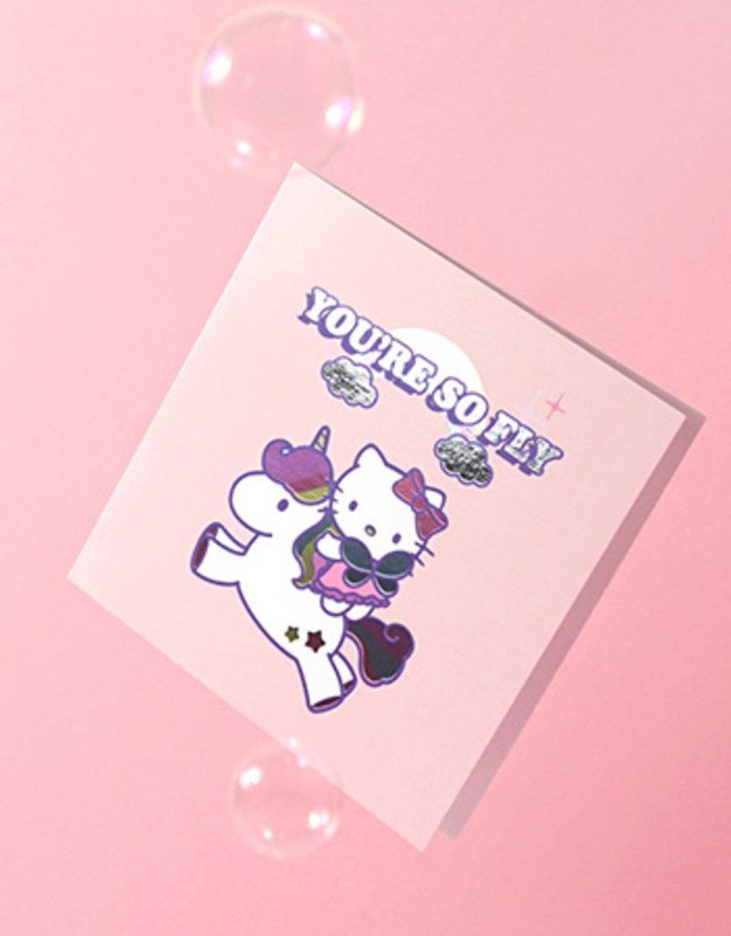so fly hello kitty card