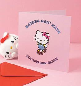 skaters hello kitty card