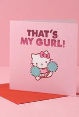 my gurl hello kitty card