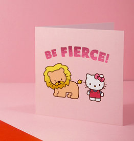 be fierce hello kitty card