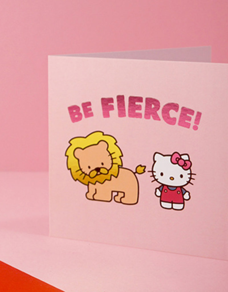 be fierce hello kitty card