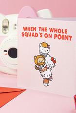 on point hello kitty card