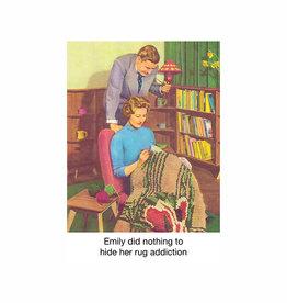 rug addict card