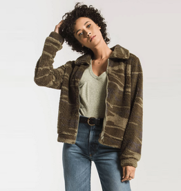 z supply the camo sherpa crop jacket