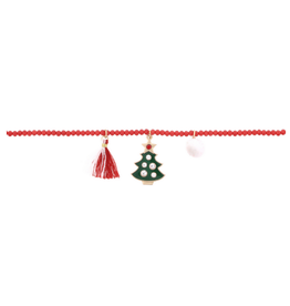 christmas tree kids charm necklace