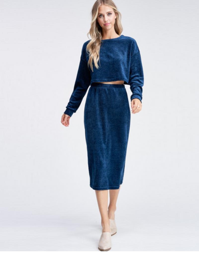 alma knit top & skirt set