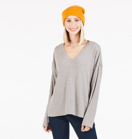 very j v neck long sleeve top