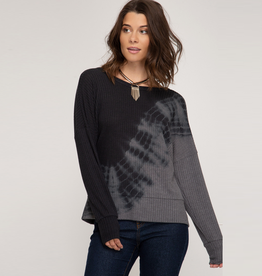thermal dye knit top