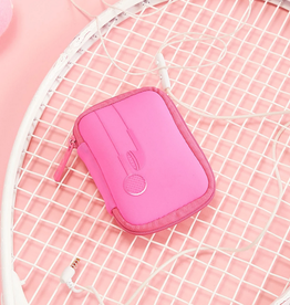 my tagalongs ear bud case - signature pink