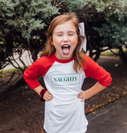 R+R kids naughty raglan FINAL SALE
