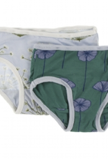 kickee pants dew dill and ivy poppies girls underwear set