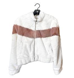 fuzzy bomber jacket