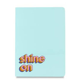 shine on saddle-stitch notebook