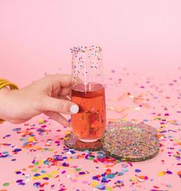 acrylic confetti coasters (set of 2)