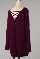 lainey cross back sweater