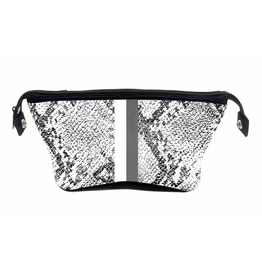 erin cosmetic pouch - white python