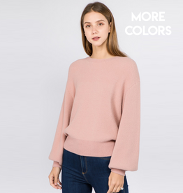 kelsey bubble sleeve pullover