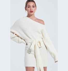 off shoulder sweater dress