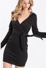 wrap knit dress final sale