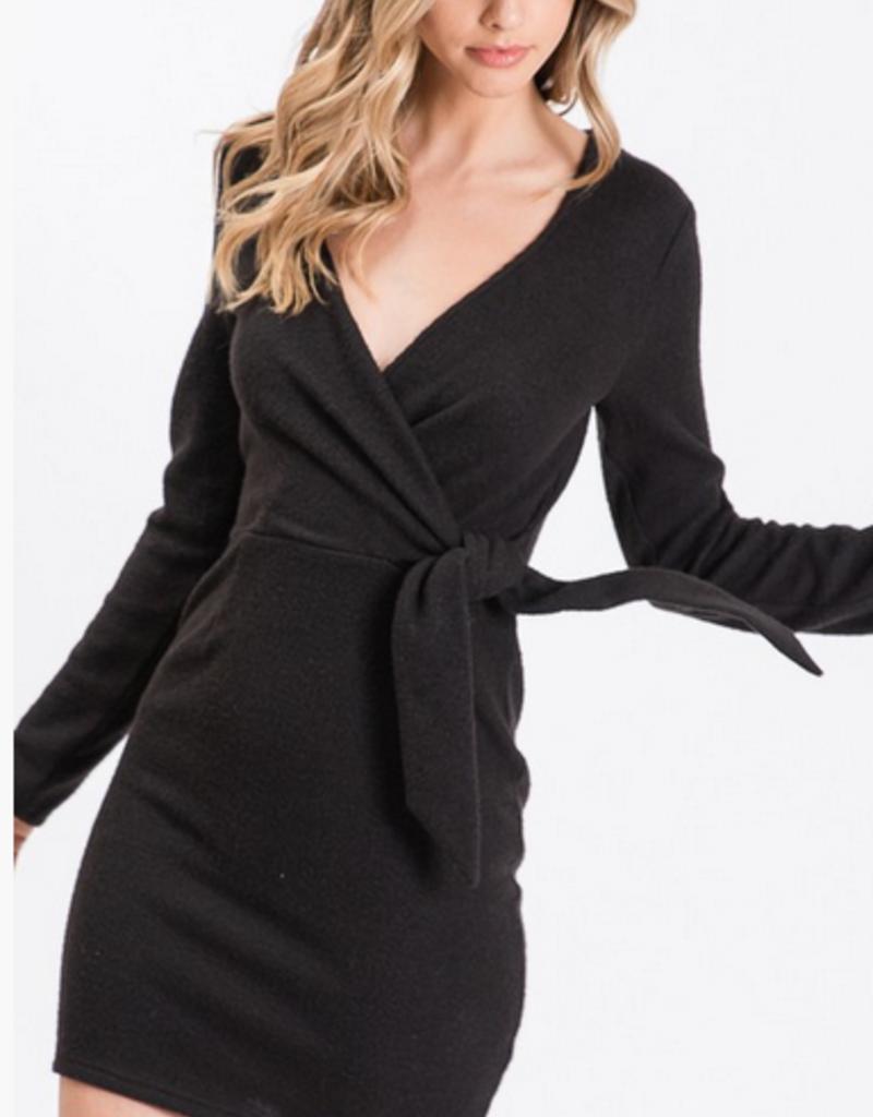 wrap knit dress