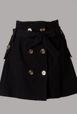 paper bag button front skirt