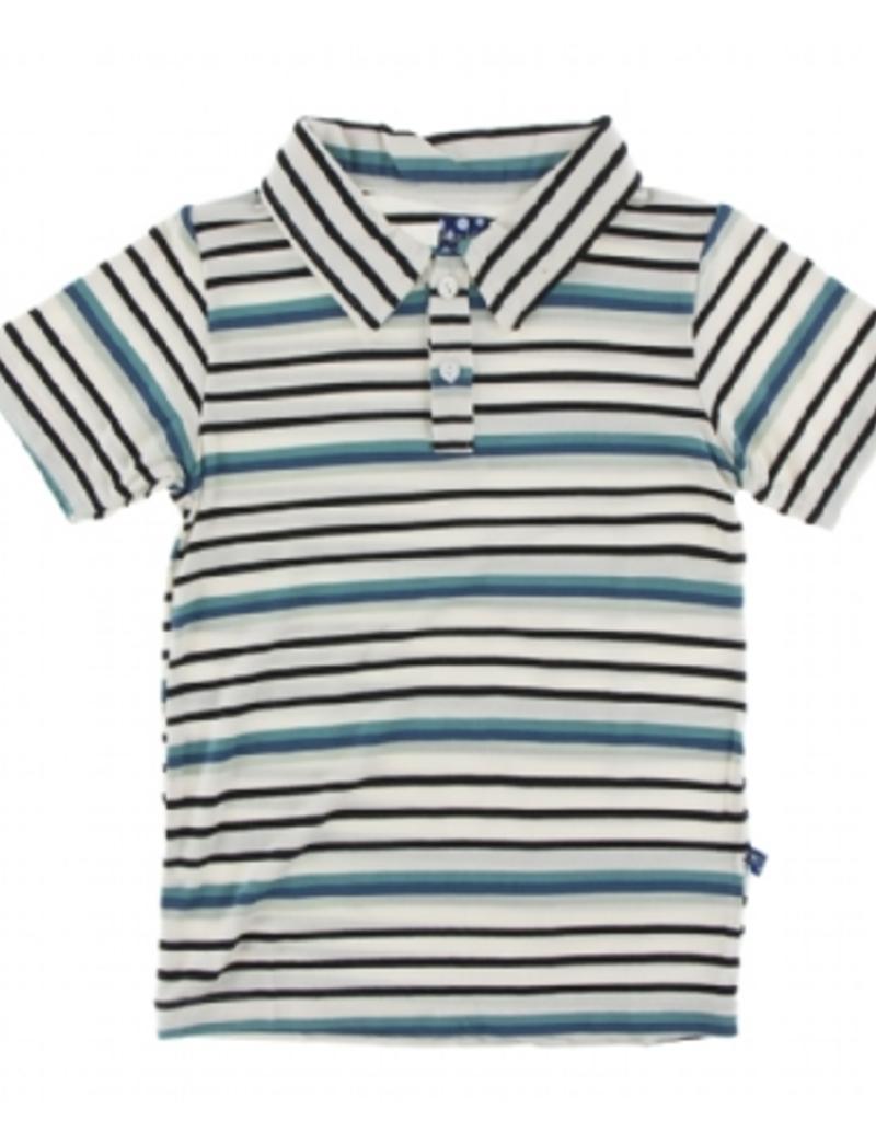 kickee pants neptune stripe short sleeve polo
