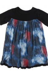 kickee pants red ginger galaxy classic short sleeve swing dress