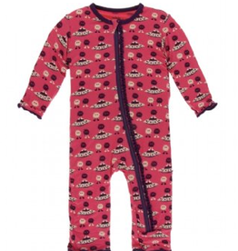 kickee pants red ginger aliens & flying saucers muffin ruffle coverall zipper