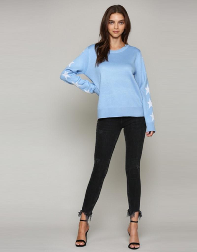 star sleeve sweater