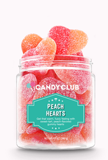 Candy Club peach hearts 7oz