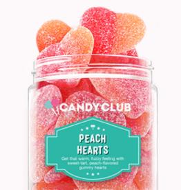 Candy Club peach hearts 7oz