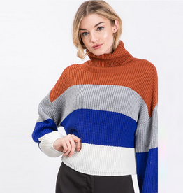stacie stripe turtleneck sweater