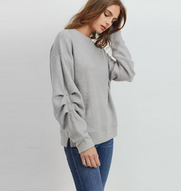 brushed wool rouched sweater