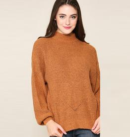 hattie mock neck sweater