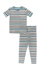 kickee pants neptune stripe short sleeve pajama set