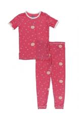 kickee pants red ginger full moon short sleeve pajama set