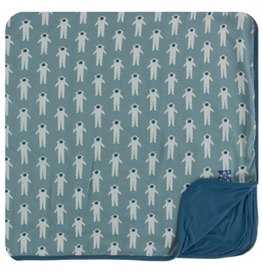 kickee pants dusty sky astronaut toddler blanket
