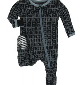 kickee pants midnight elements footie with zipper