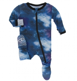 kickee pants wine grapes galaxy footie with zipper