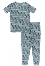 kickee pants dusty sky countdown short sleeve pajama set