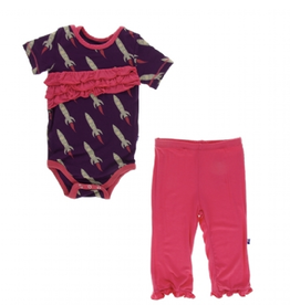 kickee pants wine grapes rockets ruffle pant set