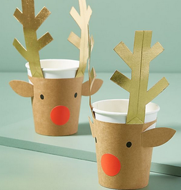 meri meri reindeer cups FINAL SALE