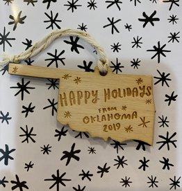 holidays from oklahoma ornament