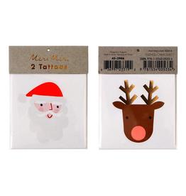 meri meri santa & reindeer tattoos